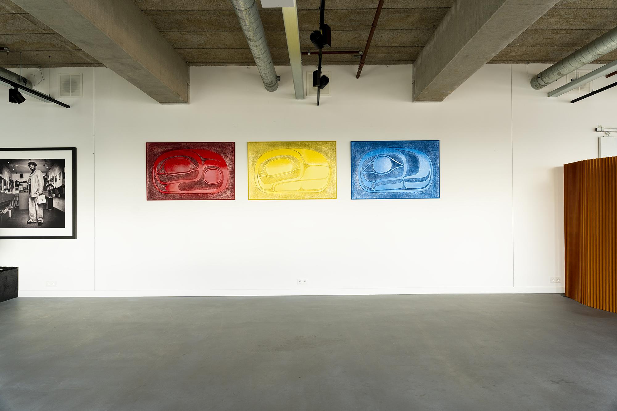 Three Salmon panels Randy Cooke interior