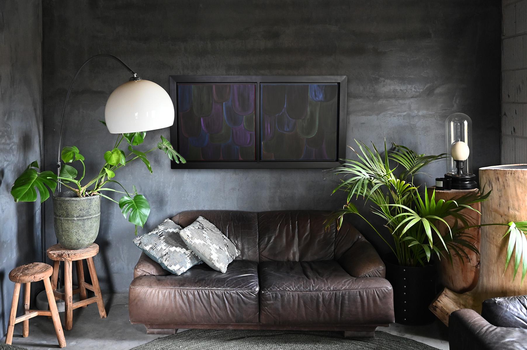 Interior art advice - loft - raven feathers